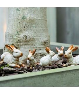 Zajíc - keramická dekorace