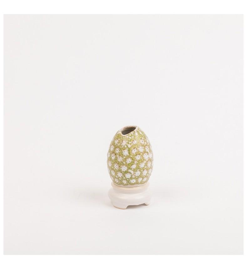Keramická vázička ve tvaru vejce S