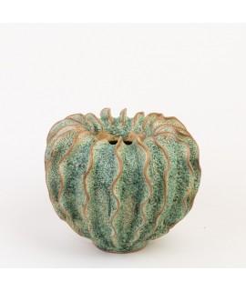Ručně tvarovaný květináč - zelený M